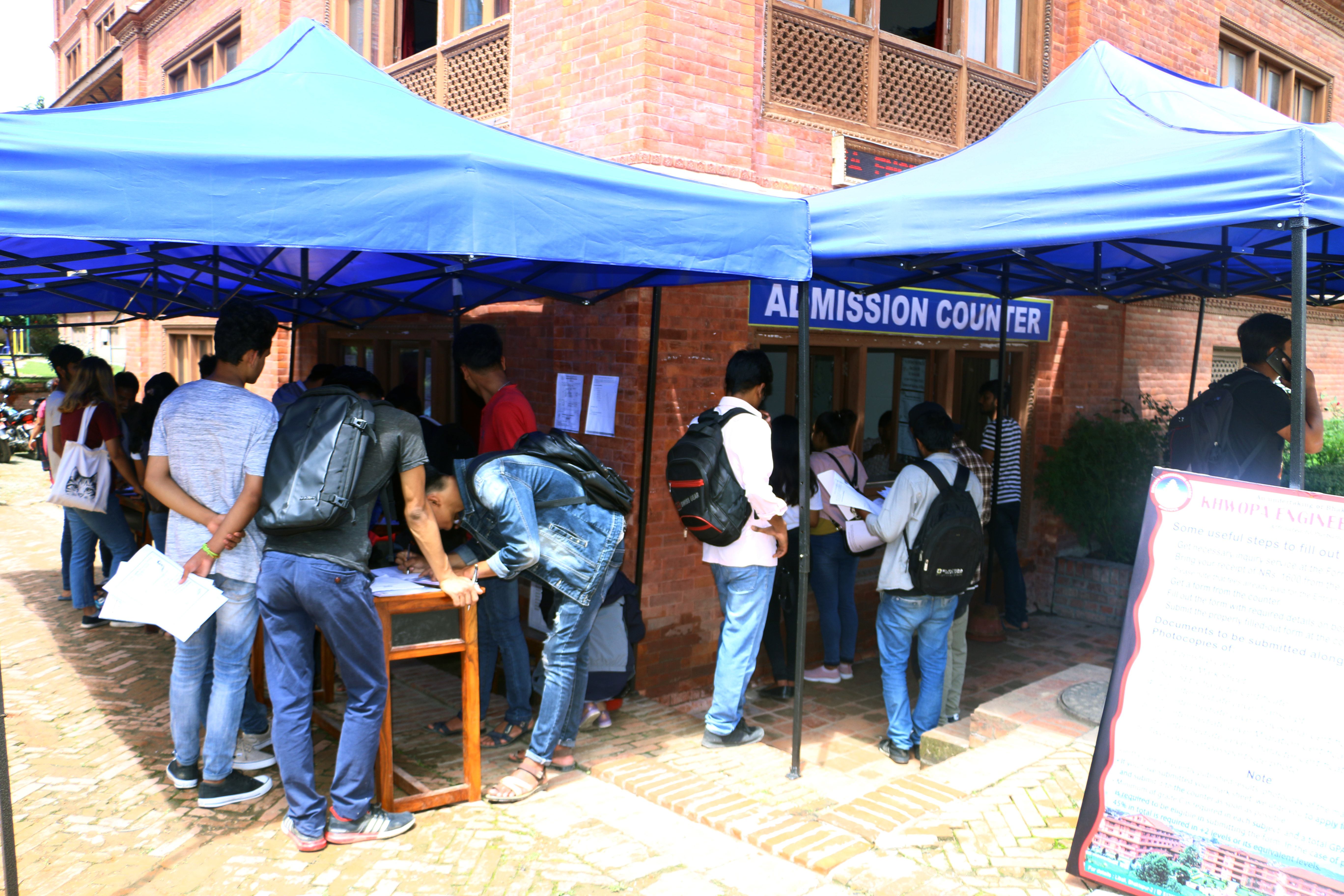 Admission counter-2076